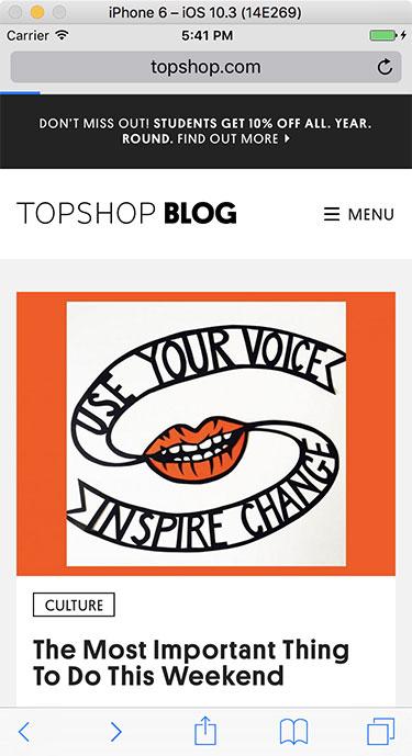 Topshop Blog